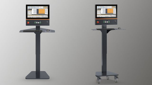 "This Control desk is equipped with an 21,5"" and 16:9 monitor and offers a perfect operator ergonomy."