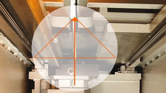 Perfect power triangle at the cutting line for permanently ideal sawing performance