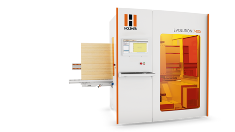Complete CNC machining in compact format and Lamello P-System capability with the Evolution 7405 Connect