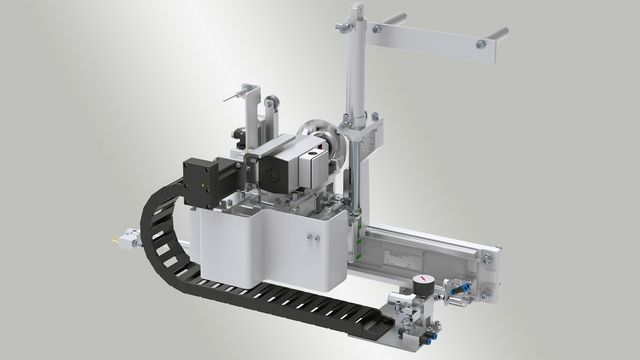 Eckkopieraggregat for corner processing up to 3 mm edge thickness
