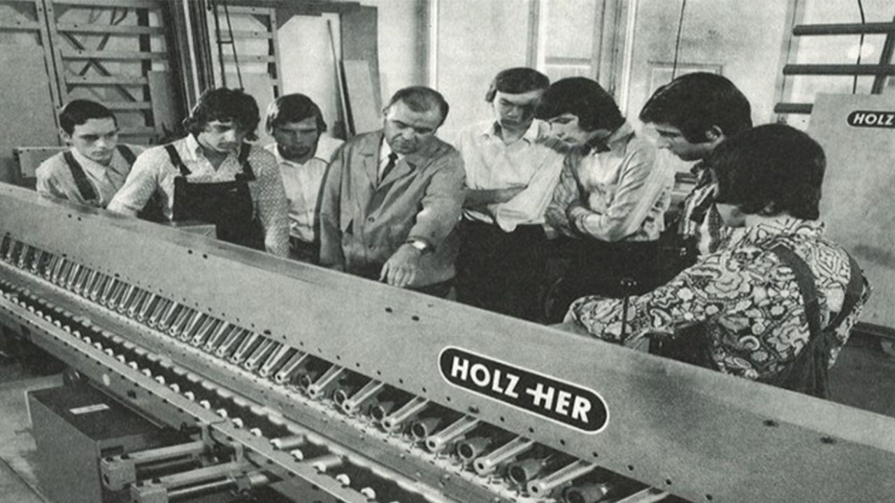 Holzher milestones woodworking machinery 1969